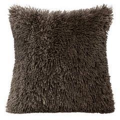 Poszewka na poduszkę 40 x 40 cm czarna futerko  - 40x40 - brązowy 1