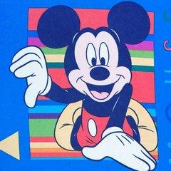 Niebieska zasłona dziecięca motyw myszki mickey 140x245 przelotki - 140 X 250 cm - niebieski 4