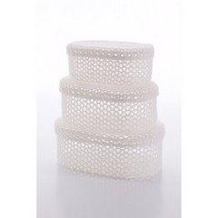 Koszyczek koronkowy z wieczkiem 25 x 16 x 10 cm 100% bawełna - 25 X 16 X 10 cm - biały 4