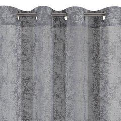 Zasłona z marmurkowym wzorem stalowy przelotki 140x250cm - 140 X 250 cm - stalowy 6