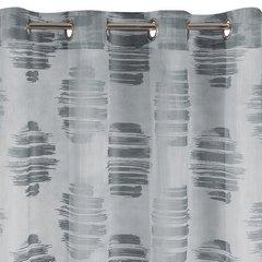 Zasłona cieniowane koła odcienie szrości przelotki 140x250cm - 140 X 250 cm - stalowy 4