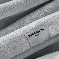 Srebrny EKSKLUZYWNY KOC Clara od PIERRE CARDIN 220x240 cm z akrylem - 220 X 240 cm - popielaty 7