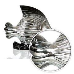 Figurka ceramiczna ryba srebrno-czarna 18 cm - 21 X 20 X 18 - srebrny 7