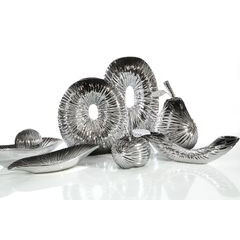 Figurka ceramiczna ryba srebrno-czarna 18 cm - 21 X 20 X 18 - srebrny 10