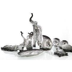 Figurka ceramiczna ryba srebrno-czarna 18 cm - 21 X 20 X 18 - srebrny 2