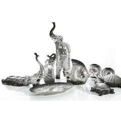 Figurka ceramiczna ryba srebrno-czarna 18 cm - 21 X 20 X 18 - srebrny 6