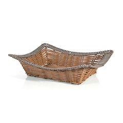 Koszyk dekoracyjny 37 x 31 x 7 cm brązowy - 37 X 31 X 7 cm - brązowy 1