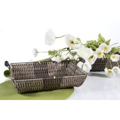 Koszyk dekoracyjny 37 x 31 x 7 cm brązowy - 37 X 31 X 7 cm - brązowy 4