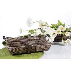 Koszyk dekoracyjny 37 x 31 x 7 cm brązowy - 37 X 31 X 7 cm - brązowy 5