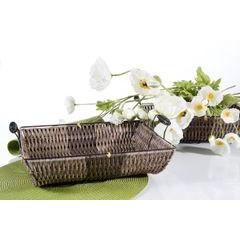 Koszyk dekoracyjny 37 x 31 x 7 cm brązowy - 37 X 31 X 7 cm - brązowy 3