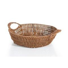 Koszyk dekoracyjny 29 x 9 cm brązowy - ∅ 29 X 9 cm - kremowy 1