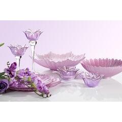 Talerz dekoracyjny różowe szkło  - ∅ 32 X 3 cm - różowy 7