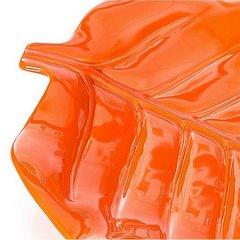Patera ceramiczna liść pomarańczowy 46 x 29 x 5 cm - 46 X 29 X 5 cm - pomarańczowy 6