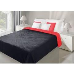 Narzuta dwustronna CZERWONY CZARNY 70 X 150 cm - 70x150 - czerwony / czarny 1