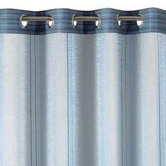 Jasna niebieska zasłona do salonu na przelotkach 140x250 cm - 140x250 - Niebieski 2