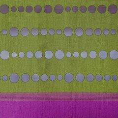 Fioletowo - zielona zasłona w pasy nowoczesny design 140x250 cm - 140 X 250 cm - fioletowy/zielony 4