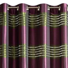 Fioletowo - zielona zasłona w pasy nowoczesny design 140x250 cm - 140 X 250 cm - fioletowy/zielony 6