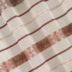 Wzorzysta zasłona do salonu biały czerwony przelotki 140x250 cm - 140 X 250 cm - biały/pomarańczowy 3