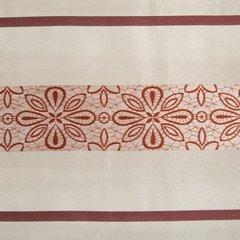 Wzorzysta zasłona do salonu biały czerwony przelotki 140x250 cm - 140 X 250 cm - biały/pomarańczowy 4