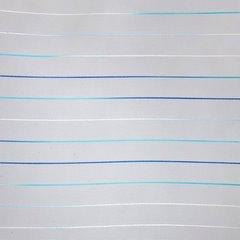 Żakardowa zasłona w cieniowane paski kremowy niebieski przelotki - 140 X 250 cm - kremowy/niebieski 2