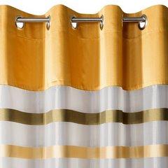 Zasłona półprzejrzysta na przelotkach 140x250 cm - 140 X 250 cm - oliwkowy/pomarańczowy 6