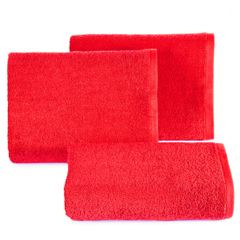Gładki ręcznik kąpielowy czerwony 100x150 cm - 100 X 150 cm - czerwony 1