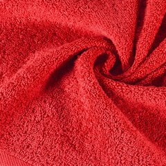 Gładki ręcznik kąpielowy czerwony 100x150 cm - 100x150 - czerwony 3