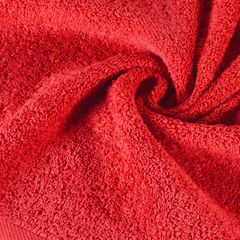 Gładki ręcznik kąpielowy czerwony 100x150 cm - 100x150 - czerwony 1