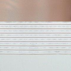 Zasłona w poziome pasy organza satyna beżowa przelotki 140x250cm - 140 X 250 cm - beżowy 4