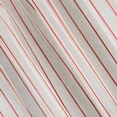 Oryginalna kremowa zasłona w czerwone prążki na taśmie 140x250 cm - 140 X 250 cm - kremowy/czerwony 1