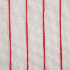 Oryginalna kremowa zasłona w czerwone prążki na taśmie 140x250 cm - 140 X 250 cm - kremowy/czerwony 4