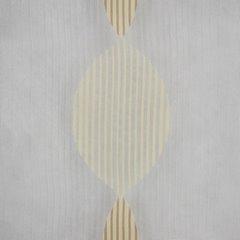 Kremowa delikatna zasłona w bezowy wzór na taśmie 140x250 cm - 140 X 250 cm - kremowy/beżowy 4