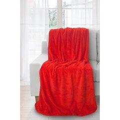 Koc miękki i puszysty jednokolorowy czerwony 170x210 cm - 170 X 210 cm - czerwony 2