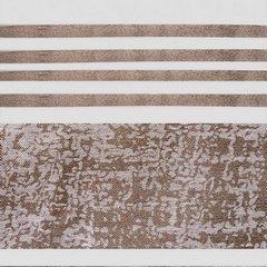 Firana gotowa poziome pasy 140x250cm organdyna - 140 X 250 cm - brązowy 4