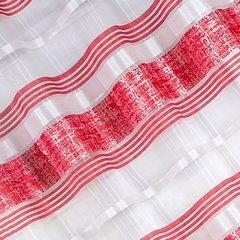 Firana gotowa poziome pasy 140x250cm organdyna - 140 X 250 cm - czerwony 3