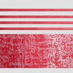 Firana gotowa poziome pasy 140x250cm organdyna - 140 X 250 cm - czerwony 4