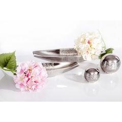 Patera ceramiczna łódka srebrna 33 x 10 x 6 cm - 33 X 10 X 6 cm - srebrny 6