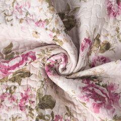 Narzuta dwustronna z motywem kwiatowym bordowy+kremowy 220x240cm - 220 X 240 cm - wielokolorowy 9