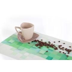 Podkładka stołowa z wzorem 3D pomarańczowa 30x45 cm - 30 X 45 cm - pomarańczowy 3