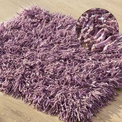 Dywanik z sznurkowym włosiem miękki fioletowy 50x70cm - 50 X 70 cm - fioletowy 1