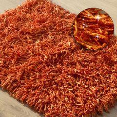 Dywanik z sznurkowym włosiem miękki pomarańczowy 50x70cm - 50 X 70 cm - pomarańczowy 1