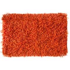Dywanik z sznurkowym włosiem miękki pomarańczowy 50x70cm - 50 X 70 cm - pomarańczowy 2