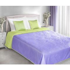 Narzuta dwustronna fiolet zieleń 220x240cm - 220 X 240 cm - jasnozielony/jasnofioletowy 2