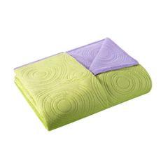 Narzuta dwustronna fiolet zieleń 220x240cm - 220 X 240 cm - jasnozielony/jasnofioletowy 3