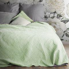 Narzuta melanie zielona pikowana 220x240 cm - 220 X 240 cm - zielony 1