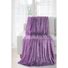 Koc miękki fioletowy gładki 170 x 210 cm - 170 X 210 cm - fioletowy 2