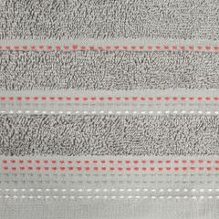 Ręcznik z bawełny z ozdobnym stebnowaniem 30x50cm - 30 X 50 cm - srebrny 7
