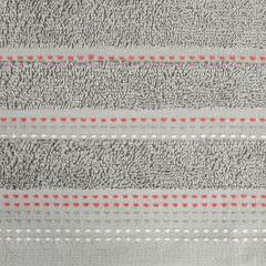 Ręcznik z bawełny z ozdobnym stebnowaniem 70x140cm - 70 X 140 cm - srebrny 8