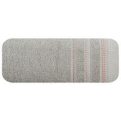 Ręcznik z bawełny z ozdobnym stebnowaniem 70x140cm - 70 X 140 cm - srebrny 2