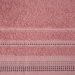 Ręcznik z bawełny z ozdobnym stebnowaniem 30x50cm - 30 X 50 cm - pudrowy 4